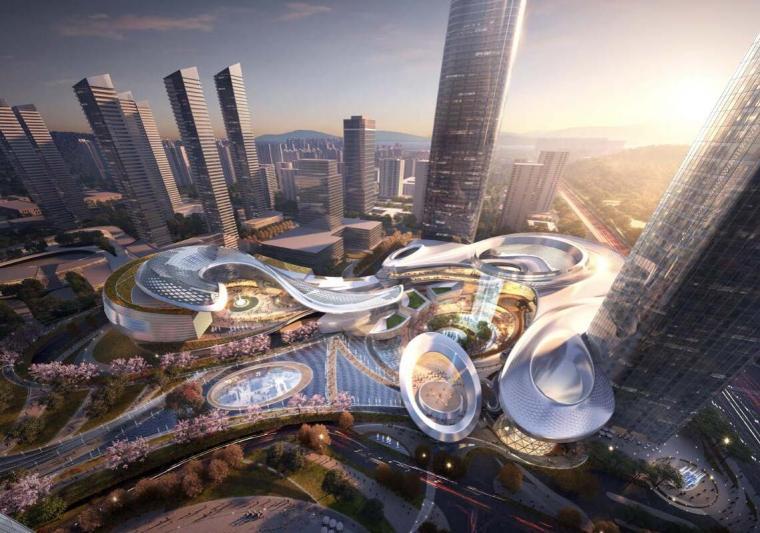 [广东]国际中心超级住宅+办公建筑方案-效果图一