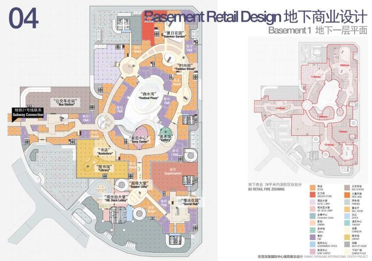 [广东]国际中心超级住宅+办公建筑方案-地下一层平面