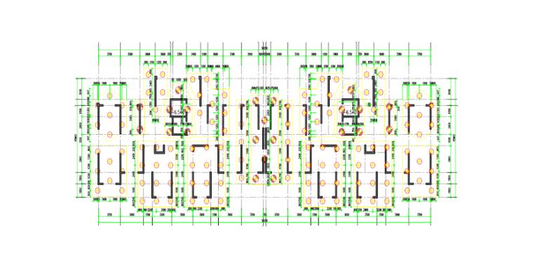 高层住宅楼钻孔桩桩基础工程施工组织设计-02 桩基础平面布置图