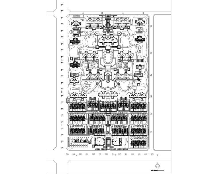 知名企业现代欧式居住区景观彩平图PSD+CAD-总图CAD