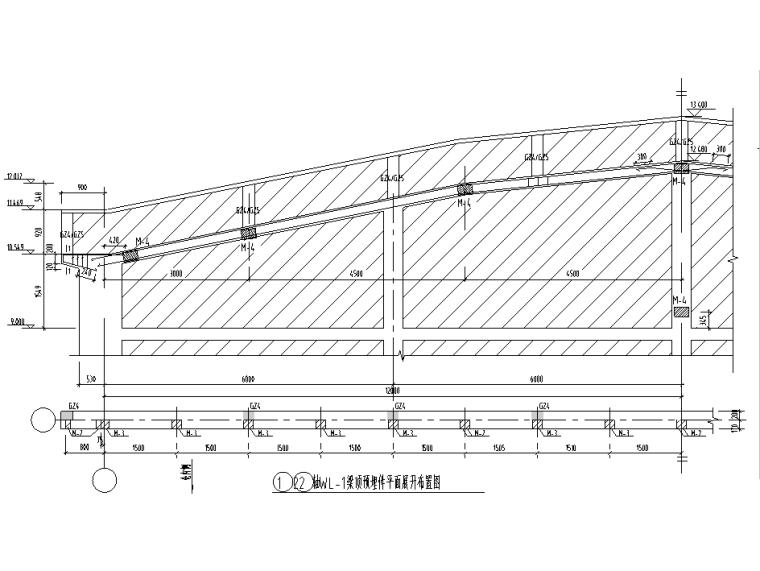 梁顶预埋件平面展开布置图