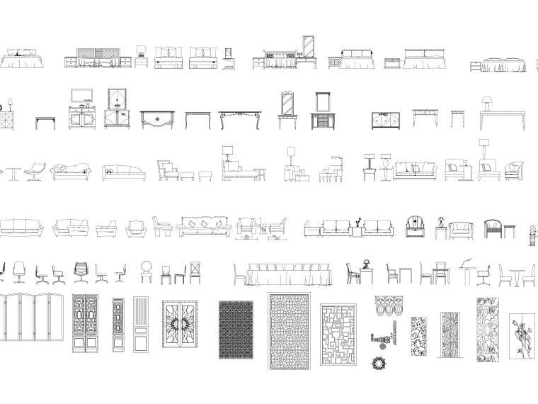 CAD立面图块2