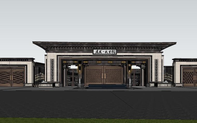 苏州知名企业独墅湾中式示范区建筑模型设计 (1)