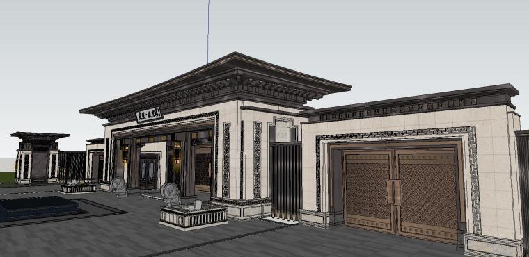 苏州知名企业独墅湾中式示范区建筑模型设计 (3)