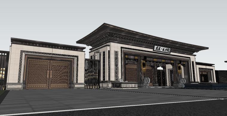 苏州知名企业独墅湾中式示范区建筑模型设计 (2)