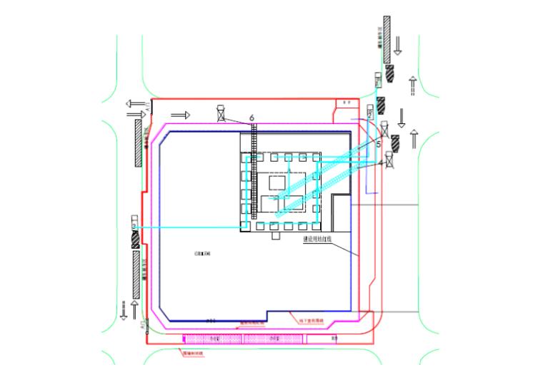 大体积混凝土工程安全专项施工方案-03 大体积混凝土浇筑平面布置图