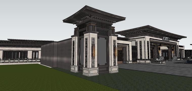 苏州知名企业独墅湾中式示范区建筑模型设计 (5)