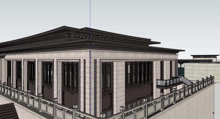 苏州知名企业独墅湾中式示范区建筑模型设计 (6)
