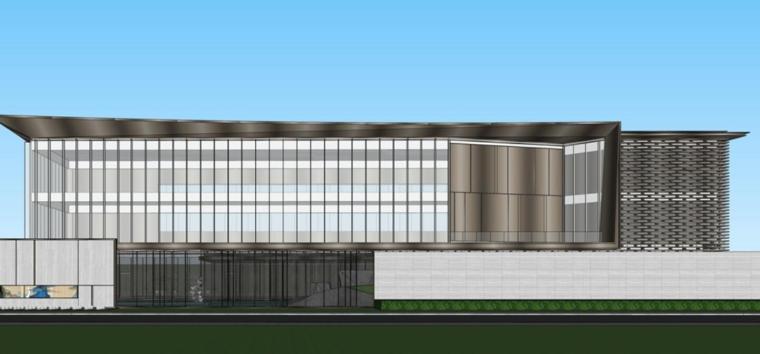 云南知名企业巫家坝壹号示范区建筑模型设计 (4)