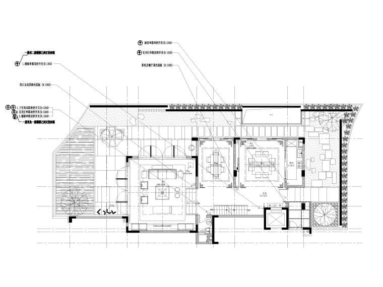 [深圳]长岭京基新中式二层别墅装修施工图-控制面板位置图
