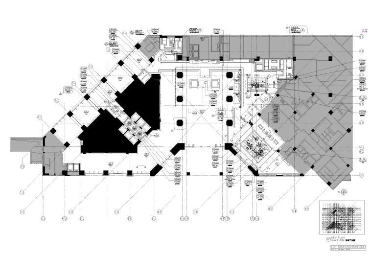 [广州]粤海喜来登酒店室内装修全套施工图-一层天花平面布置图