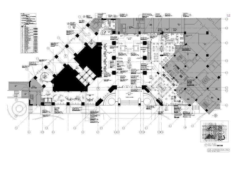 [广州]粤海喜来登酒店室内装修全套施工图-一层机电平面图