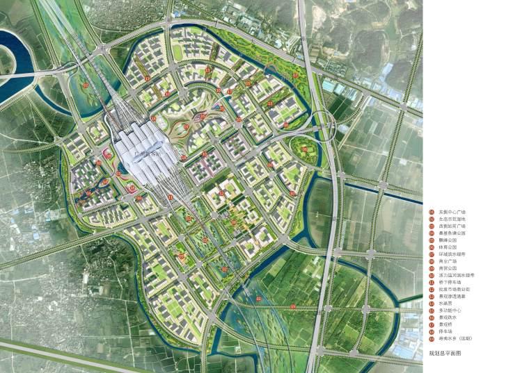 [广东]广州区域交通枢纽景观设计方案-3总规划平面
