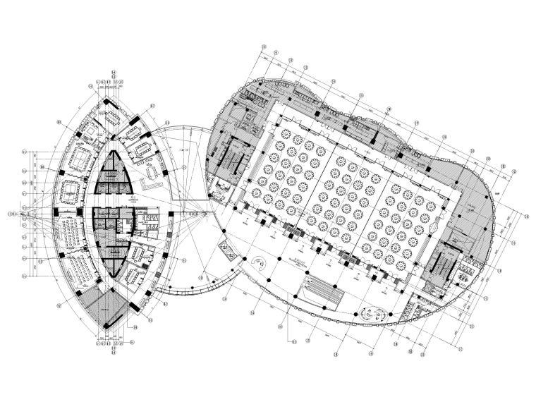 [上海]铂尔曼五星级酒店室内装修部分施工图-三层平面布置图