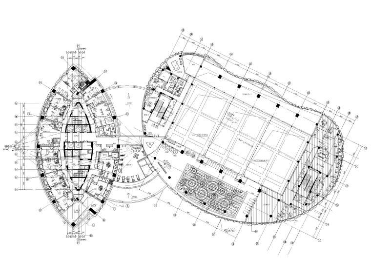 [上海]铂尔曼五星级酒店室内装修部分施工图-四层平面布置图