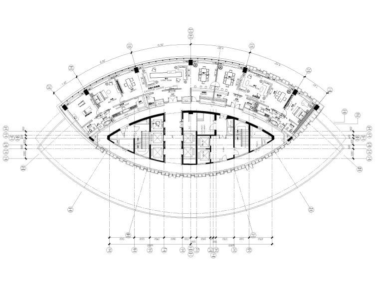 [上海]铂尔曼五星级酒店室内装修部分施工图-总统套房平面布置图