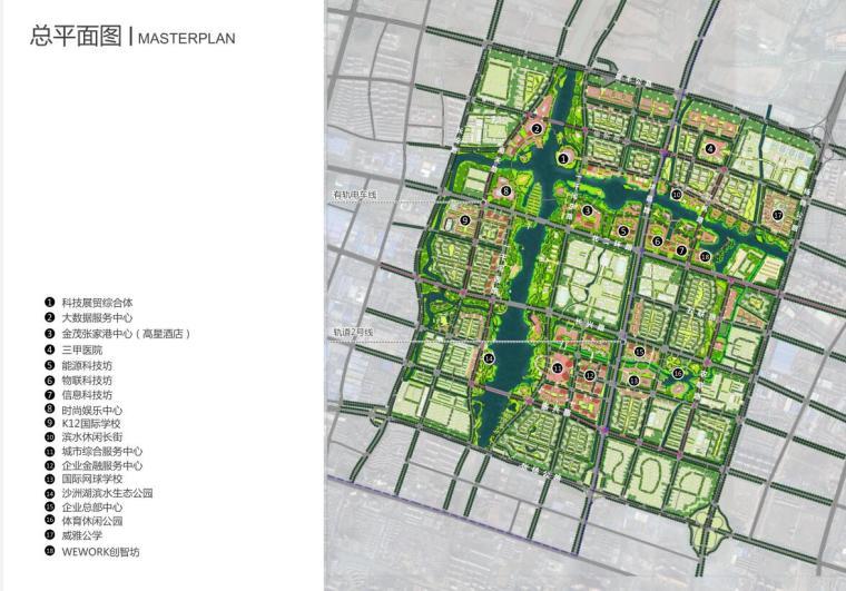 [江苏]高新技术开发区办公建筑概念方案-总平面图