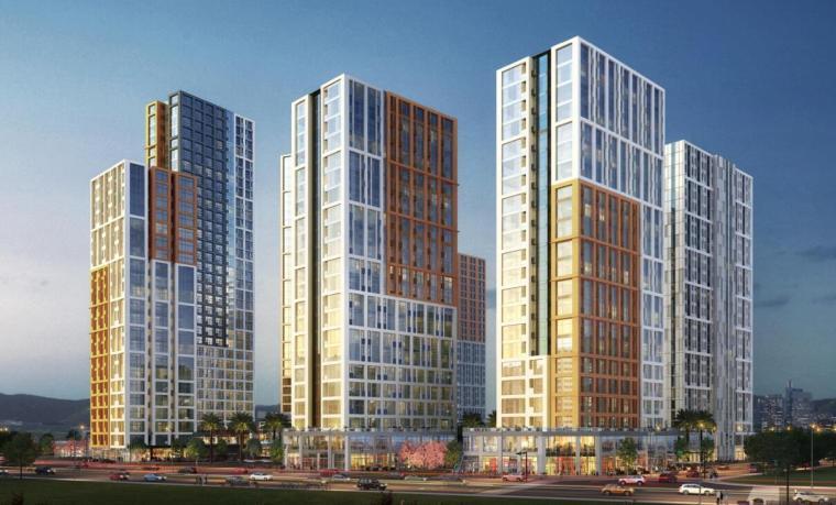 [广东]知名企业现代风格商业办公建筑方案-东南效果图
