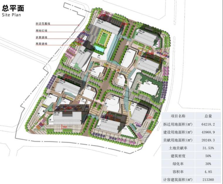 [广东]知名企业现代风格商业办公建筑方案-总平面图