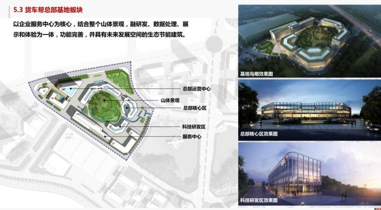 [贵州]现代风数字物流产业园建筑概念规划-货车帮总部基地板块