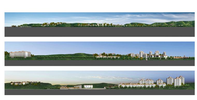 [辽宁]沈阳综合社区景观设计方案-2总体立面图