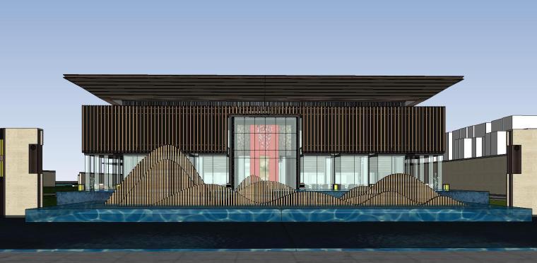 四川成都知名企业中式示范区建筑模型设计 (1)