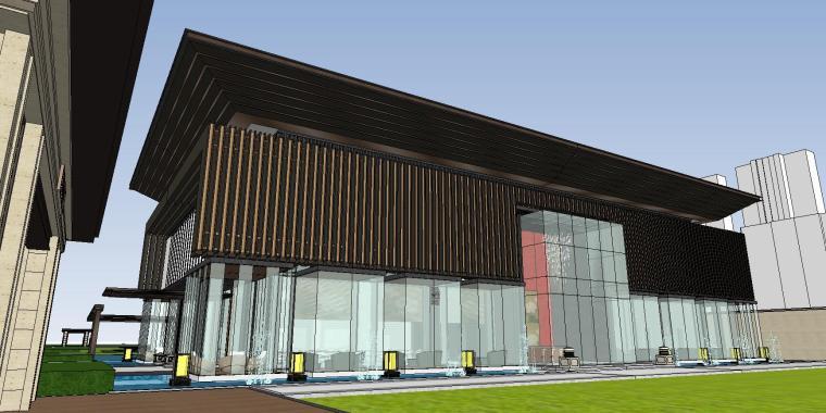 四川成都知名企业中式示范区建筑模型设计 (3)
