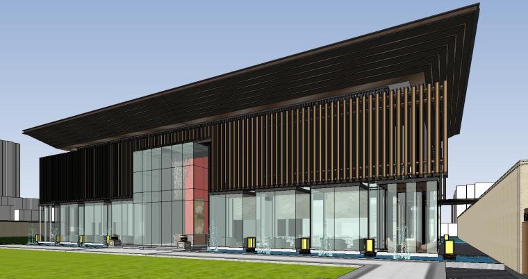 四川成都知名企业中式示范区建筑模型设计 (2)
