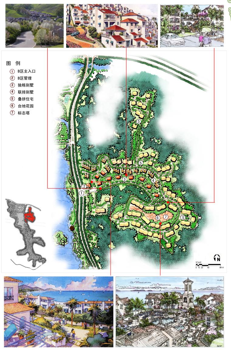 [辽宁]沈阳综合社区景观设计方案-8B区平面图