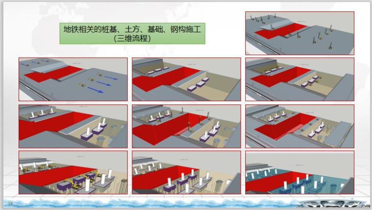 地铁相关的桩基、土方、基础、钢构施工