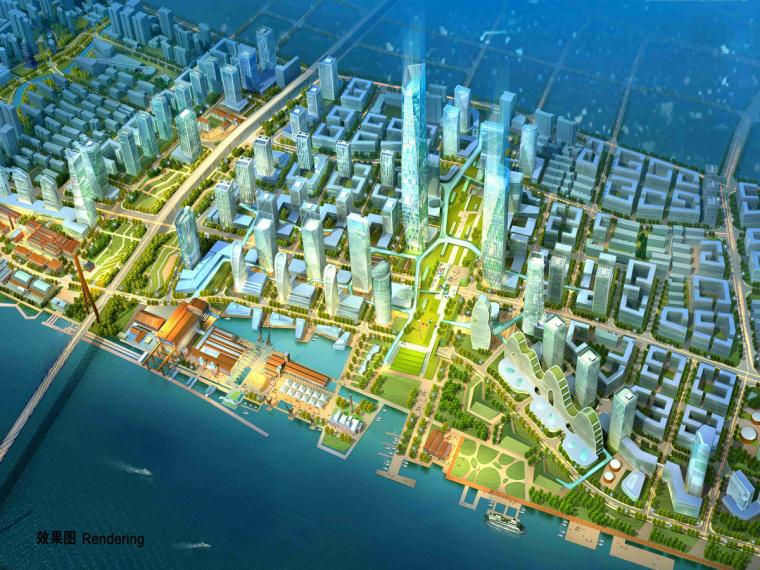 [上海]滨江创新城区景观设计方案-1效果图