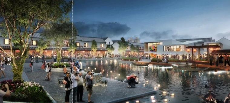 [上海]青浦小镇居住区景观设计方案-休闲区景观效果图