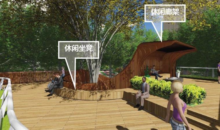 [上海]浦东知名现代风格居住区景观设计方-花园效果图