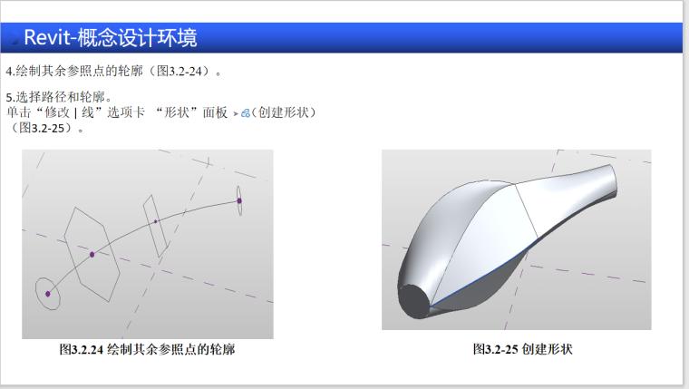 BIM全专业入门教程4.2Revit概念设计坏境-融合创建形状