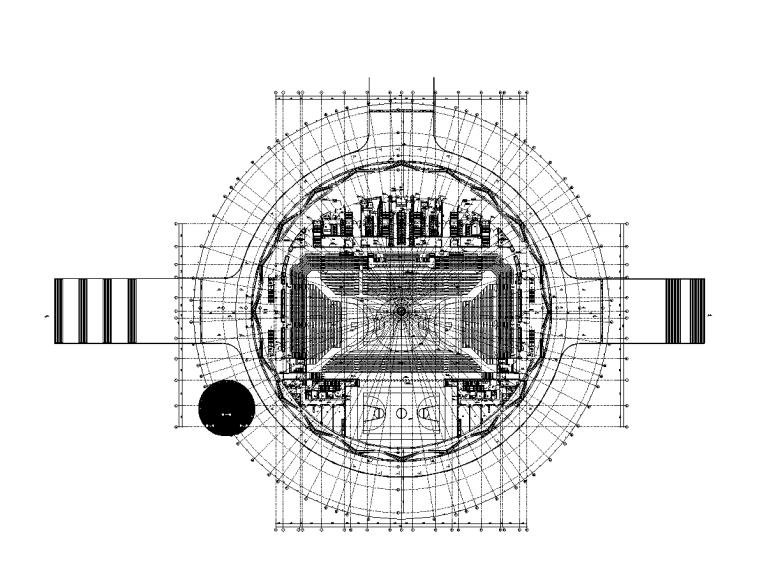 欧式二层滨水咖啡厅图资料下载-湖南体育馆建筑给排水施工图