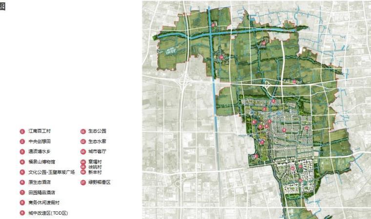 [上海]青浦小镇居住区景观设计方案-总平面图