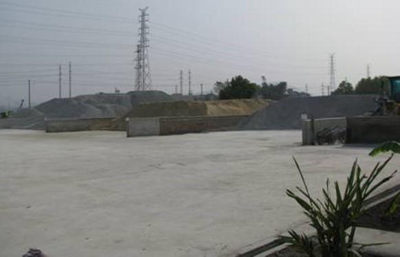 [福建]高速公路T梁预制施工要点-料仓场地硬化