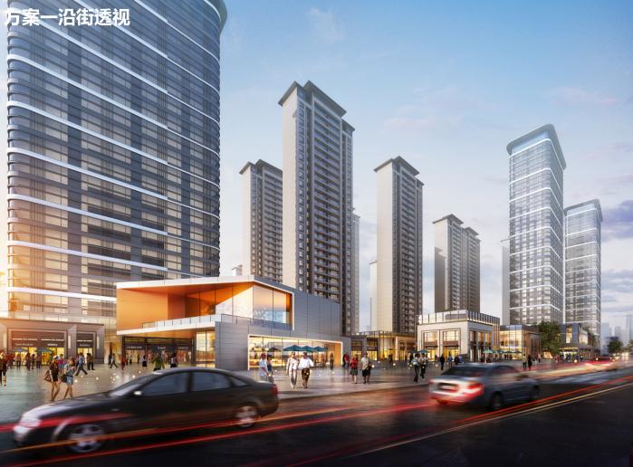 长沙东十路高层公寓_复式商住混合方案文本-方案一效果图