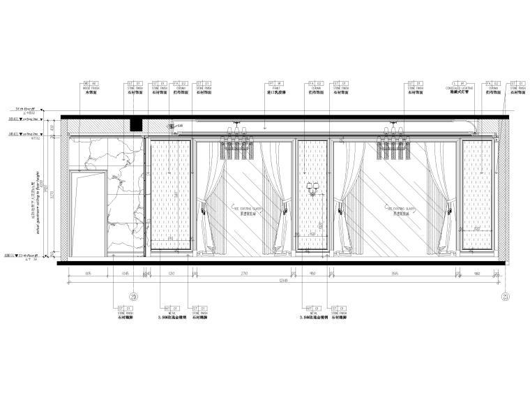 [辽宁]大连三层欧式公馆室内装修设计施工图-一层立面图4