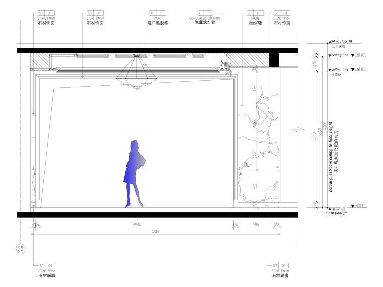 [辽宁]大连三层欧式公馆室内装修设计施工图-一层立面图5