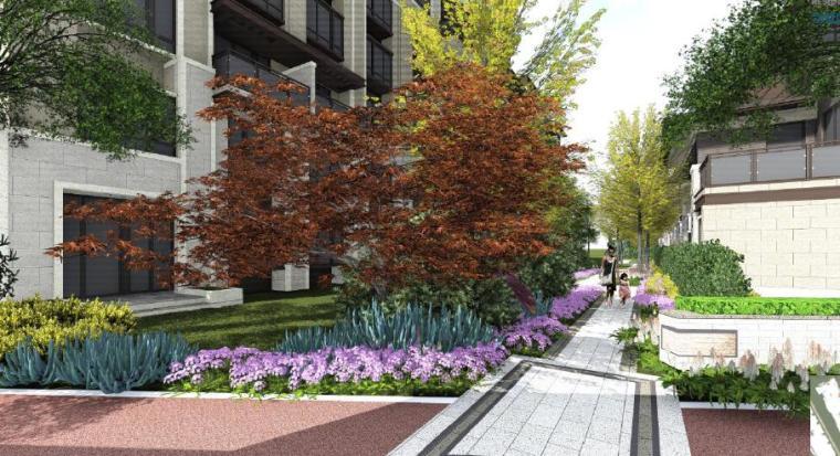 [江苏]苏州现代风格居住区景观设计方案-别墅区效果图