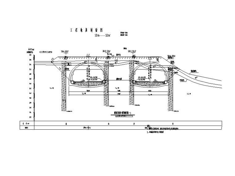 [重庆]高速公路隧道工程施工图设计说明-工程地质剖面图