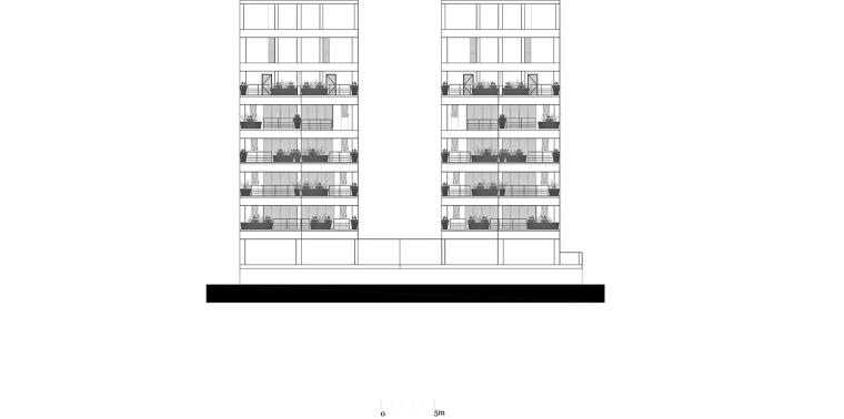 墨西哥高层复式公寓-fachada_sur