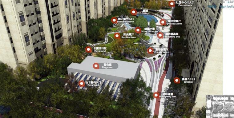 [江苏]苏州现代风格居住区景观设计方案-高层区效果图