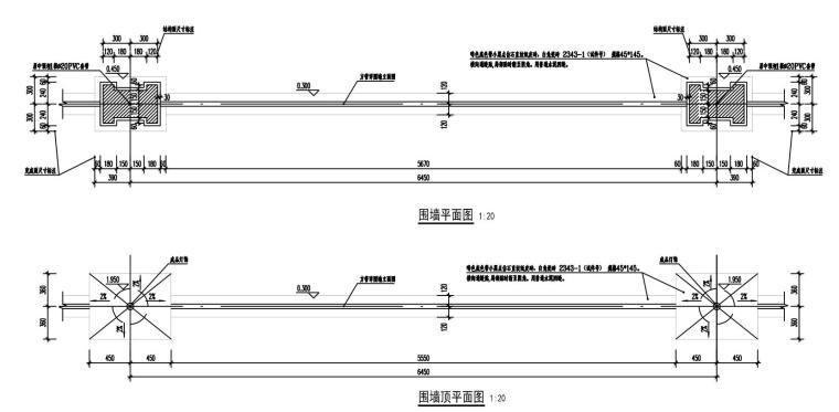 知名企业城市花园围墙详图设计 (2)