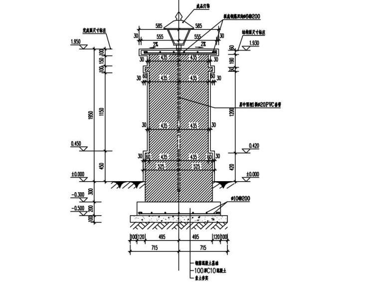 知名企业城市花园围墙详图设计 (5)