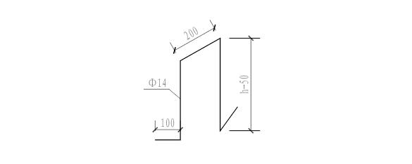 17层剪力墙结构住宅楼项目施工组织设计-09 支撑筋示意图