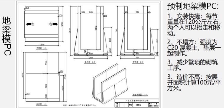 知名地产装配式PC构件培训讲义(图文)-预制地梁模PC