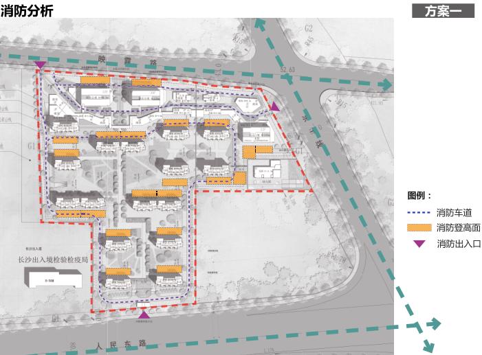 长沙东十路高层公寓_复式商住混合方案文本-方案一消防分析