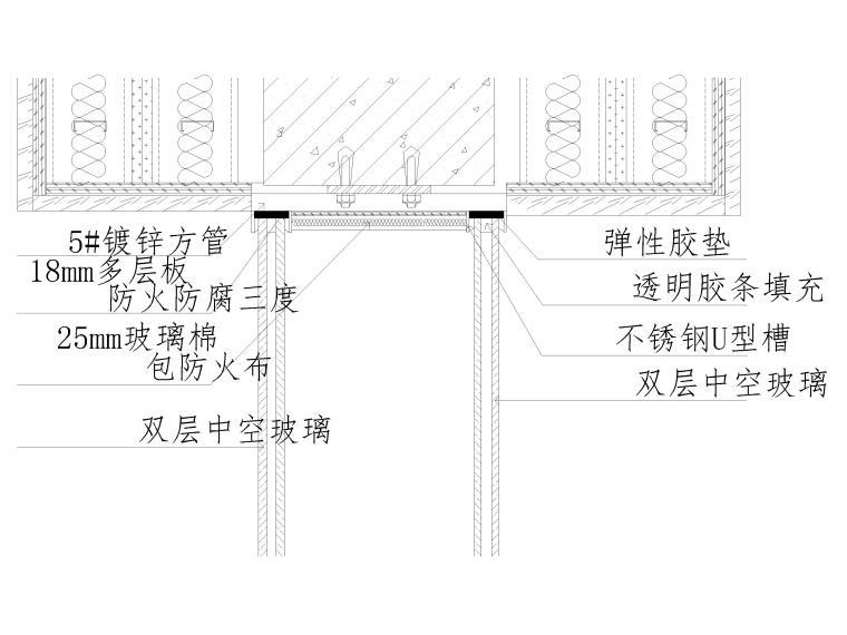 40套墙面,地面,天花,拼接等收口节点详图-玻璃窗户与墙面相接做法
